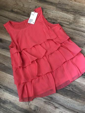 Блуза с рюшами от H&M р.11/12 лет