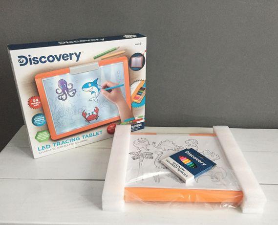 LED Мольберт для рисования детский Discovery Kids / доска для рисовани