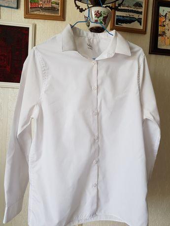 Белая рубашка для мальчика 14-15лет, рост 164см