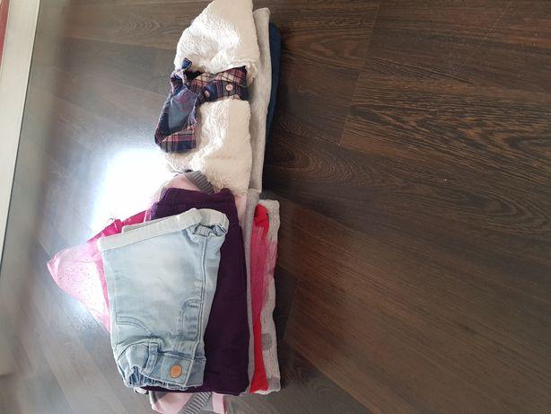 Paka zestaw ubrań dla dziewczynki r 86 święta