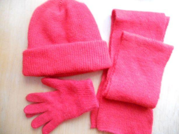 шапочка, шарф і перчатки