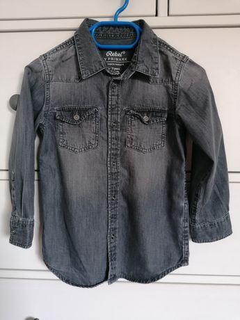 Szara koszula jeansowa