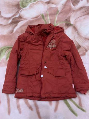 Куртка, парка на девочку Бэмби 110р