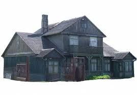 Belki deski stare z rozbiórki domu dom drewniany duży świerk sosna