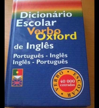 Dicionário escolar Verbo Oxford Português-Inglês e Inglês-Português em
