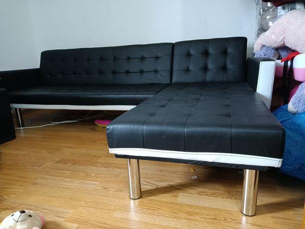 Sofá com chaise lounge