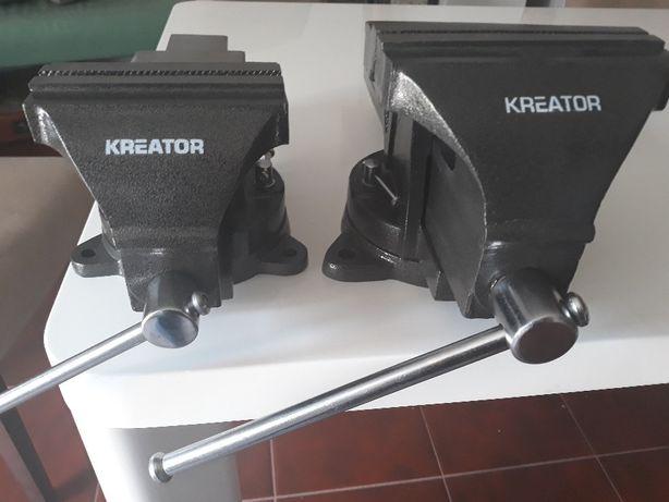 Tornos de bancada novos marca KREATOR de 150mm, 125mm, 100mm.