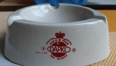 Пепельница фарфор Фарко made in Ukraine