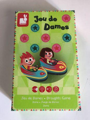 Jeu de dames - шашки  детям от 6 - 12 лет. настольная  игра для детей