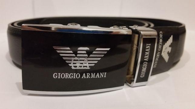 Pasek męski Giorgio Armani czarny hugo boss 120cm automat do spodni