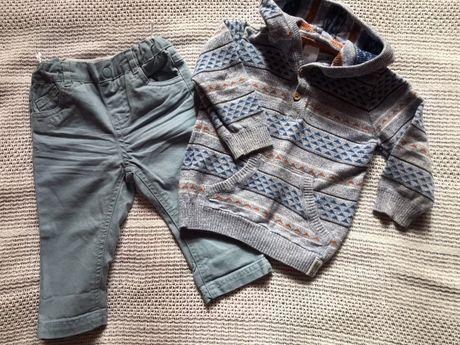 H&M кофта 9-12 и джинсы baby club