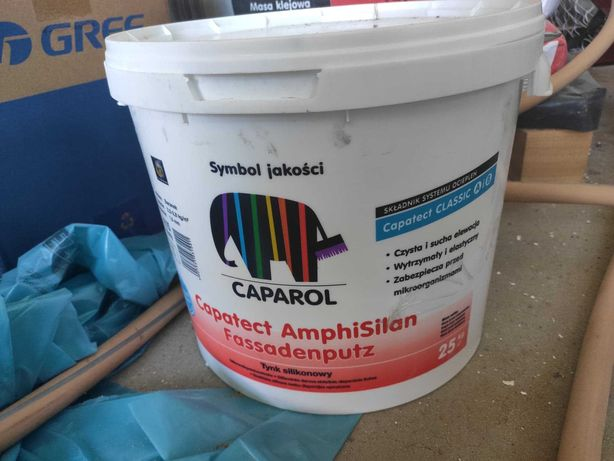 Tynk silikonowy Caparol AMPHISILAN FASSPUTZ K15 GRAPHIT 13 25KG