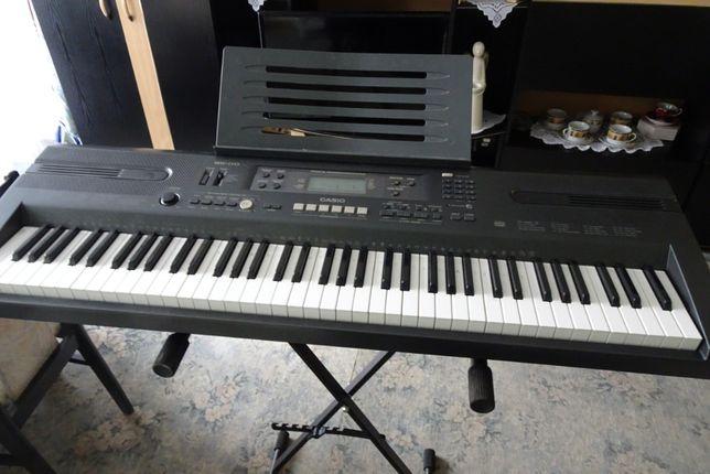 Casio WK-110 , statyw , case , zasilacz , kabel łączący keyboard z pc