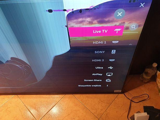 """Talewizor LG 65""""model;LG65SK8100PLA ULTRA HD HDR 4K Uszkodzona matryca"""