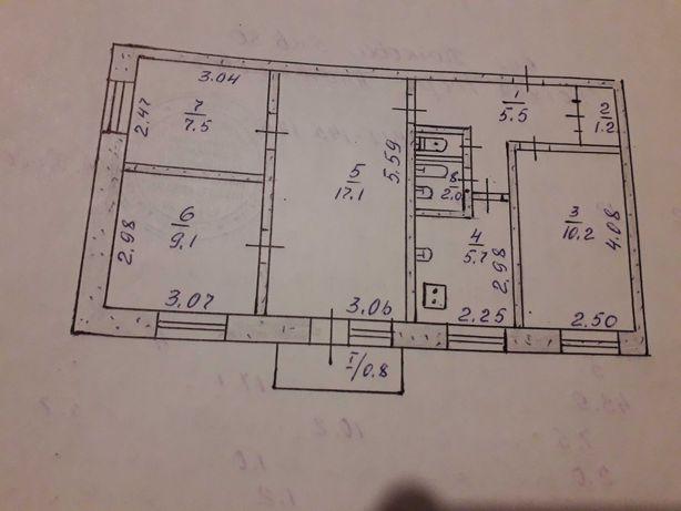 Продам 4-х комнатную квартиру на Ингульце
