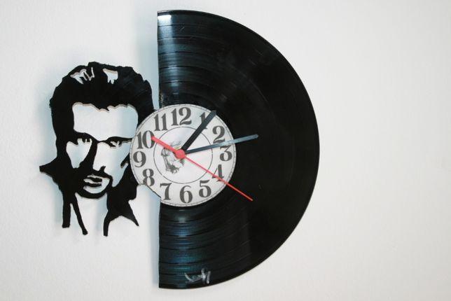 Relógio de Parede em Vinil - Johnny Hallyday