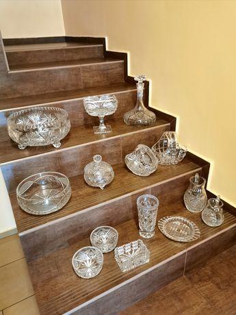 Kryształy misy wazon karafka dzbanki miseczki patery