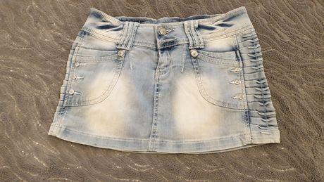 Spódnica jeans, mini 36