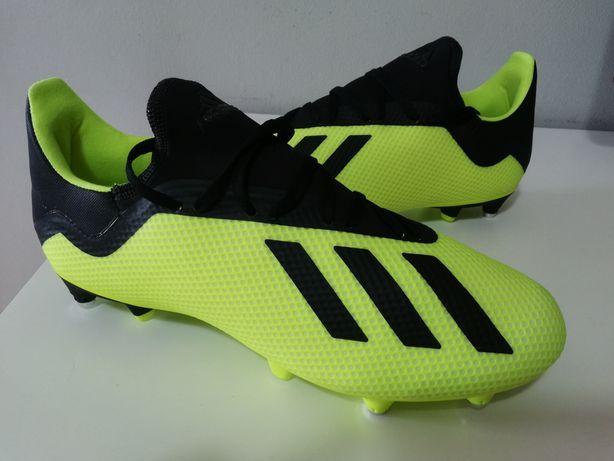 Chuteiras Adidas X n° 43 - alumínio, novas