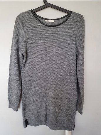 Szara sweterkowa sukienka tunika Camaieu 36 s