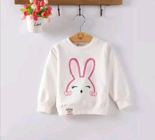 Bluza bluzeczka króliczek super gatunkowo 2-3latka