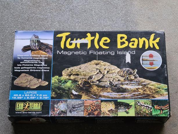 Pływająca wyspa dla żółwia do akwarium, rozmiar Large 40.6/20/7 cm