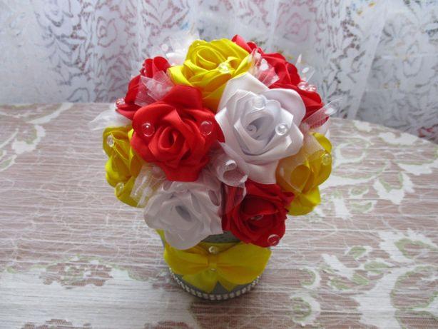 Stroik ozdoba kwiat na prezent podziękowania, ślub, wesele - handmade