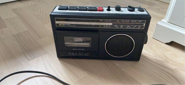 Radio magnetofon unitra emilia rm 407