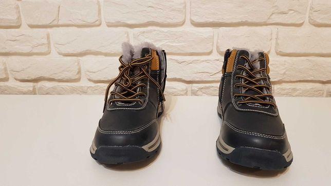 Nowe buty, trzewki zimowe chłopięce o r.36 firmy American Club.