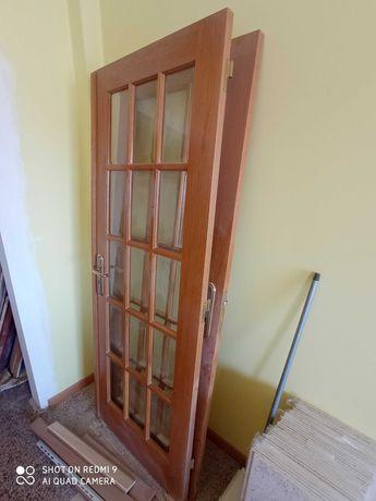 4 portas em madeira maciça de carvalho