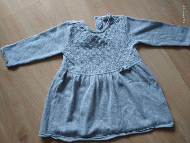 Sukienka szara H&M 74
