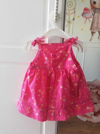 Letnia sukienka na ramiączkach różowo złota