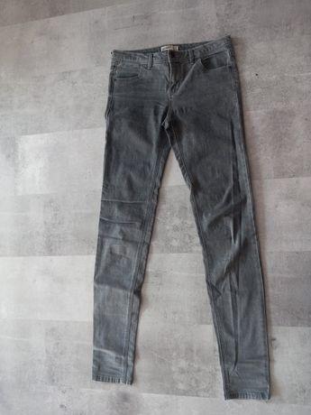 Spodnie jeansowe szare siwe 36 S Pull&bear