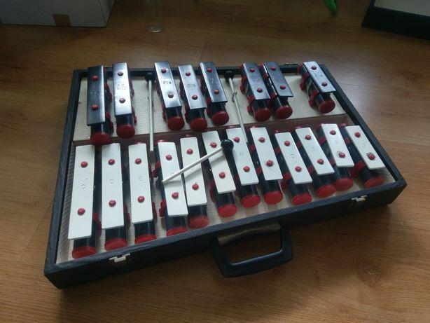 Ksylofon walizkowy cymbalki zabawka instrument