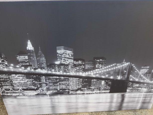 Tela impressa com paisagem