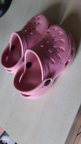 Кроксы тапочки розовые