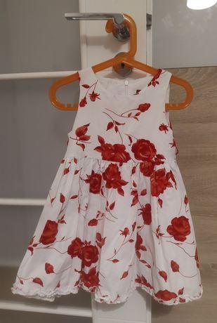 Sukienka w róże dla dziewczynki rozm. 104