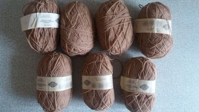 Нитки для ручного вязания 100 % шерсть