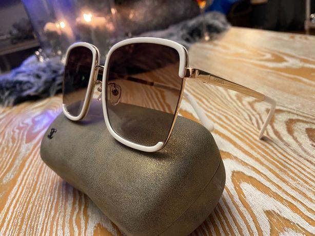 Chanel okulary brązowe szkła piękne gucci