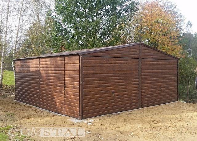 Garaż blaszany drewonopodobny 6x5m , garaże blaszane , wiaty , hale