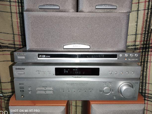 Zestaw Kina domowego 5.1 Sony Str-de497 kolumy Sony