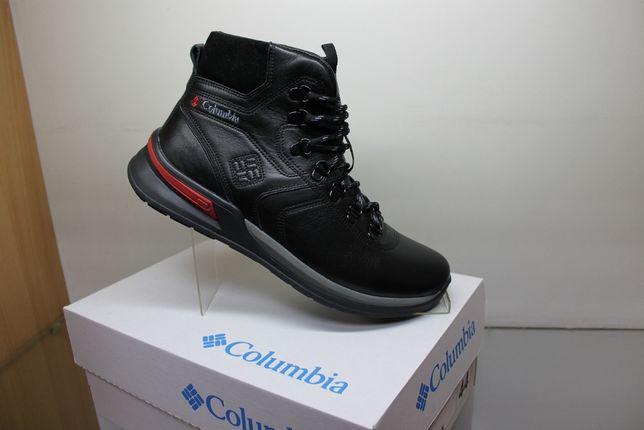 Зимние черные кроссовки - ботинки COLUMBIA на меху.(998мех)