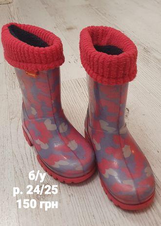 Гумові чоботи на дівчинку