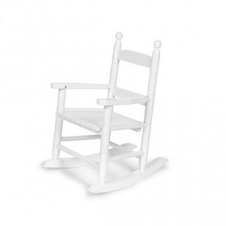 Drewniane krzesełko bujane, fotel na biegunach NOWY