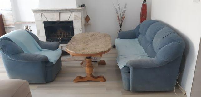 OKAZJA oddamZestaw Fotel jednoosobowy sofa trzyosobowa Kanapa tapczan