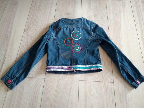 Katana kurtka desigual 7 lat 8 122 cm 128 kolorowa jeansowa oryginalna
