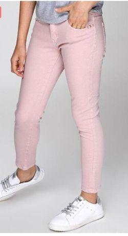 Джинсы розовые штаны котон брюки Pimkie
