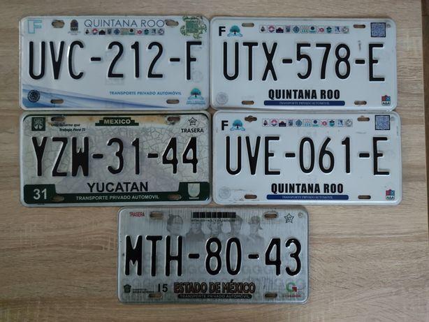 Tablice rejestracyjne Mexico Meksyk tablice rejestracyjne z Meksyku