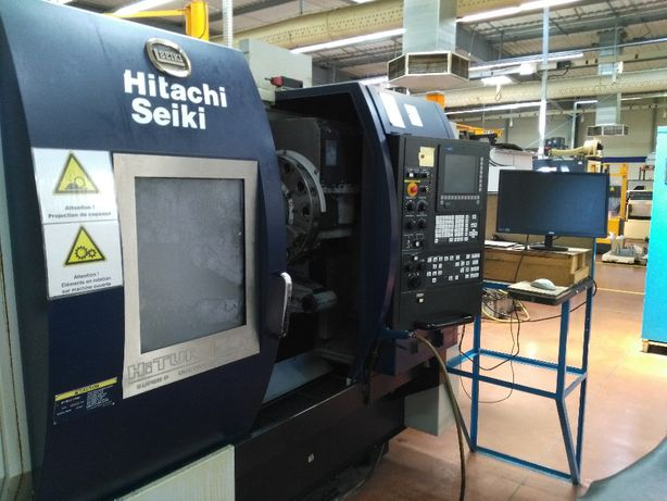Torno cnc Hitachi Seiki HT 250 torreta motorizada centro maquinação