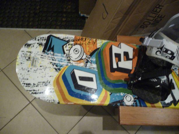 Używana deska snowboardowa + wiązania Nidecker dł 140 cm